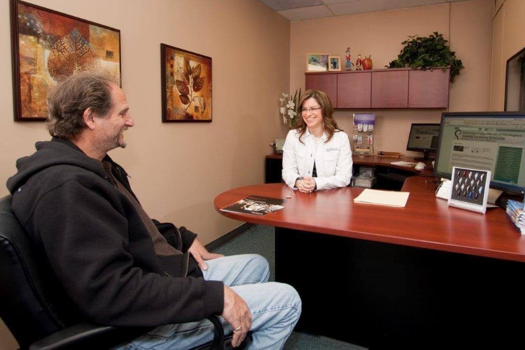 hearing consultation with Marina E. Kade, Doctor of Audiology