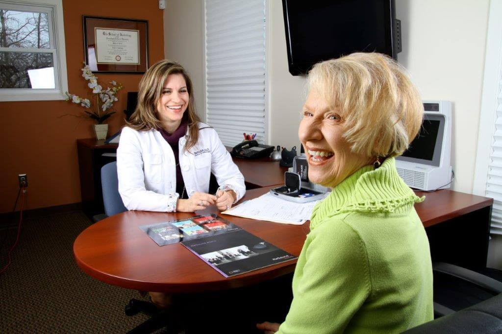 patient consultation with Marina E. Kade, AuD